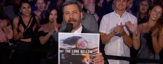 The Lone Bellow take over Kimmel's stage