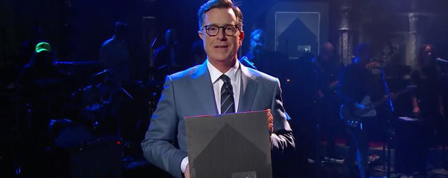 Colbert welcomes The National to the national broadcast