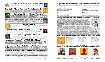 Click here to read the latest Right Arm Resource newsletter
