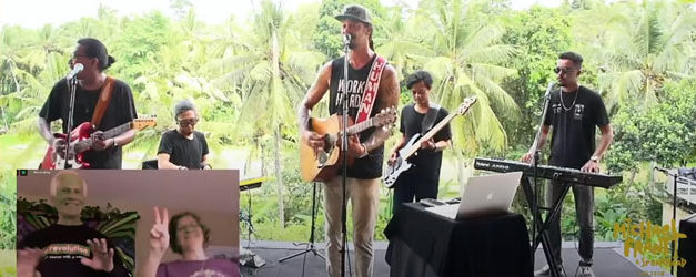 Michael Franti Works Hard On His Livestream